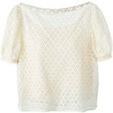 See by Chloe macrame lace blouse - women - Cotton/Polyamide/Viscose - 44