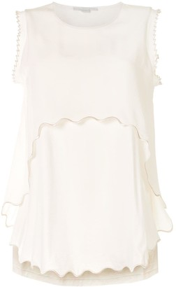 Stella McCartney Scalloped Hem Sleeveless Top