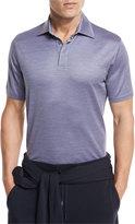 Ermenegildo Zegna Textured Polo Shirt, Light Purple