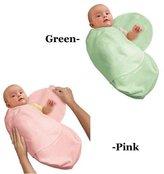 Summer Infant Kiddopotamus Cotton Knit SwaddleMe Adjustable Infant Wrap Pack Combo Pink Gre...