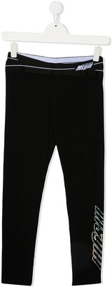 Msgm Kids TEEN logo-waistband track pants
