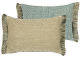 Rose Tree Odessa Fringed Trellis Reversible Boudoir Pillow