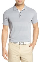Bobby Jones Men's Textured Tech Stripe Golf Polo