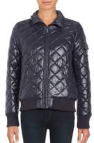 French Connection Quilted Zip-Front Coat