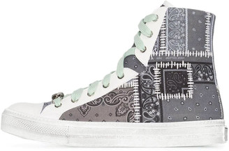 Amiri Bandana Patchwork High Top Sneakers