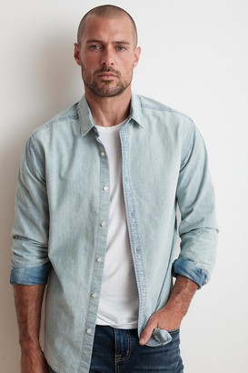 Velvet by Graham & Spencer Phoenix Cotton Chambray Button Up Shirt