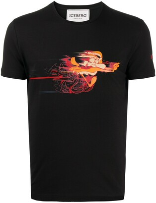 Iceberg Wile E. Coyote-print slim-fit T-shirt