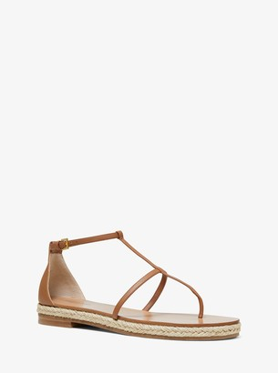 Michael Kors Annabeth Leather Sandal