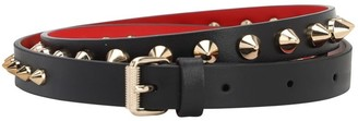 Christian Louboutin 15mm Luby Spike High Waist Leather Belt
