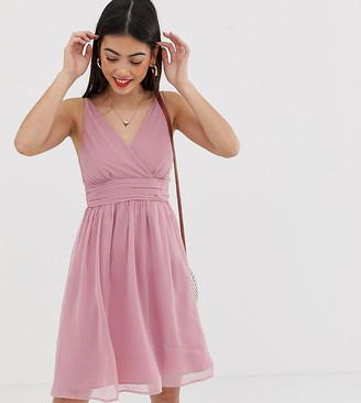 Vero Moda Petite ruche detail dress