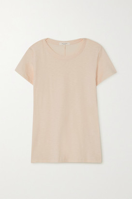 Rag & Bone The Tee Slub Pima Cotton-jersey T-shirt - Pastel pink