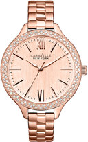 Bulova Caravelle New York by Women's Rose Gold-Tone Stainless Steel Bracelet Watch 37mm 44L125