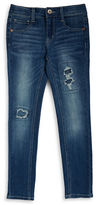Imperial Star Girls 7-16 Patch Accented Skinny Jeans