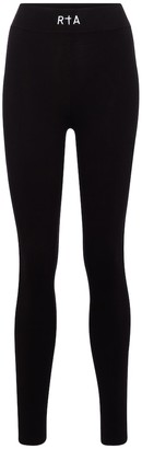 RtA Sibille high-rise stretch-cotton leggings