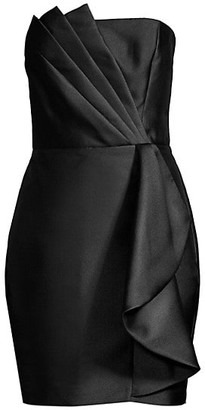 Parker Black Merida Strapless Satin Mini Dress