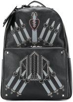 Valentino Garavani Valentino Love Blade backpack - men - Leather/Polyester/metal - One Size