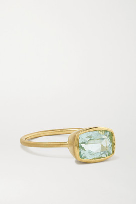 Irene Neuwirth Gemmy Gem 18-karat Gold Aquamarine Ring - 7