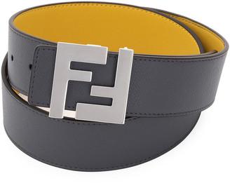 Fendi Men's FF-Buckle Leather Belt