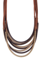 Kenneth Jay Lane Multi Strand Mesh Statement Necklace