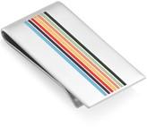 Paul Smith Sterling Silver Multicolor Stripe Money Clip