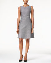 Nine West Two-Tone Tweed Fit & Flare Dress