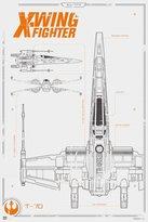 Star Wars Episode 7 Poster X-Wing Fighter Blueprint (61cm x 91,5cm) + a Bora Bora poster!