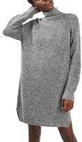 Topshop Women's Grunge Funnel Neck Sweater Dress