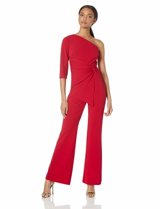 Adrianna Papell Women's ONE Shoulder Jumpsuit