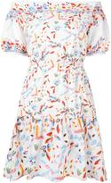 Peter Pilotto Bardot shoulder dress - women - Cotton/Polyester/Spandex/Elastane - 8