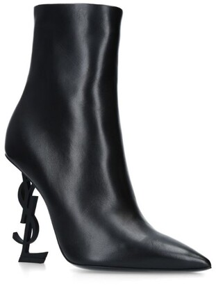 Saint Laurent Leather Opyum Ankle Boots 110