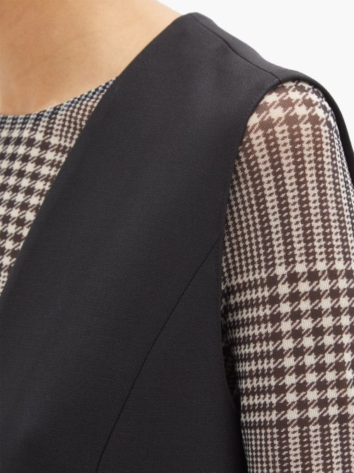 Thumbnail for your product : MM6 MAISON MARGIELA Sleeveless Twill Dress - Black