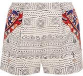 Camilla Printed Faille Shorts