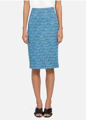 St. John Artisanal Space Dyed Stripe Skirt