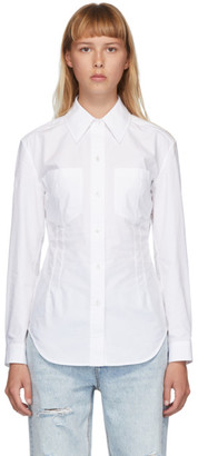 Alexander Wang White Crisp Poplin Fitted Shirt