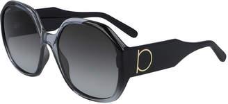 Salvatore Ferragamo Square Acetate Gancio Sunglasses