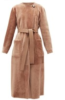 Altuzarra Clark Reversible Shearling And Leather Coat - Womens - Brown