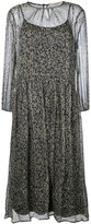 Vanessa Bruno embroidered sheer shift dress