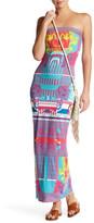 Hale Bob Strapless Printed Jersey Dress