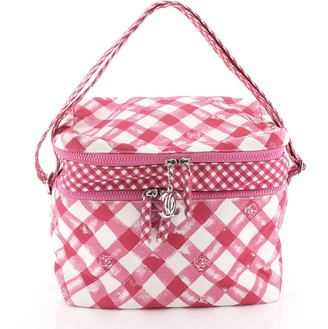 Chanel Lunch Box Shoulder Bag Printed Canvas Medium