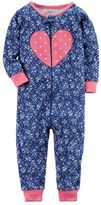 Carter's Baby Girl Floral Heart One-Piece Pajamas