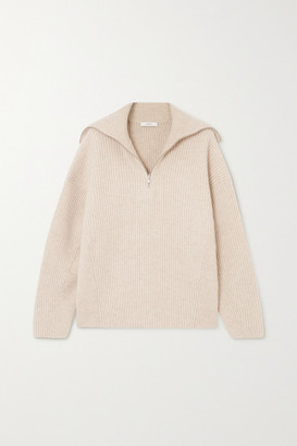 Vince Ribbed Wool And Cashmere-blend Sweater - Ecru
