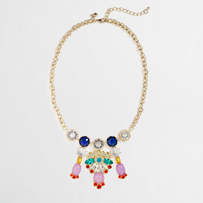 J.Crew Factory Factory multicolor chandelier necklace