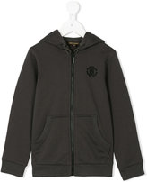 Roberto Cavalli kangaroo pocket zipped hoodie - kids - Cotton/Polyester/Spandex/Elastane - 3 yrs
