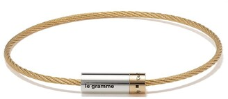 Le Gramme 18kt Gold And Silver 9g Polished Bicolor Cable Bracelet