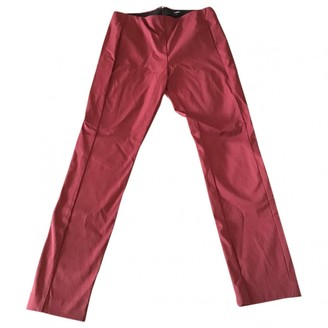 Theory Red Synthetic Trousers