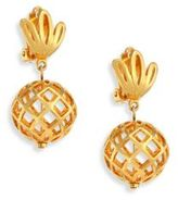 Lele Sadoughi Pineapple Clip-On Earrings