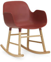 Normann Copenhagen Form Rocking Armchair Red/Oak