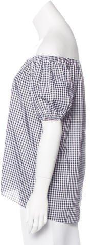 Caroline Constas Off-The-Shoulder Short Sleeve Blouse