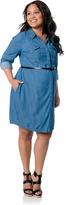Motherhood Plus Size Convertible Sleeve Maternity Dress