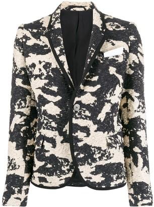 Neil Barrett Woven Camouflage Blazer
